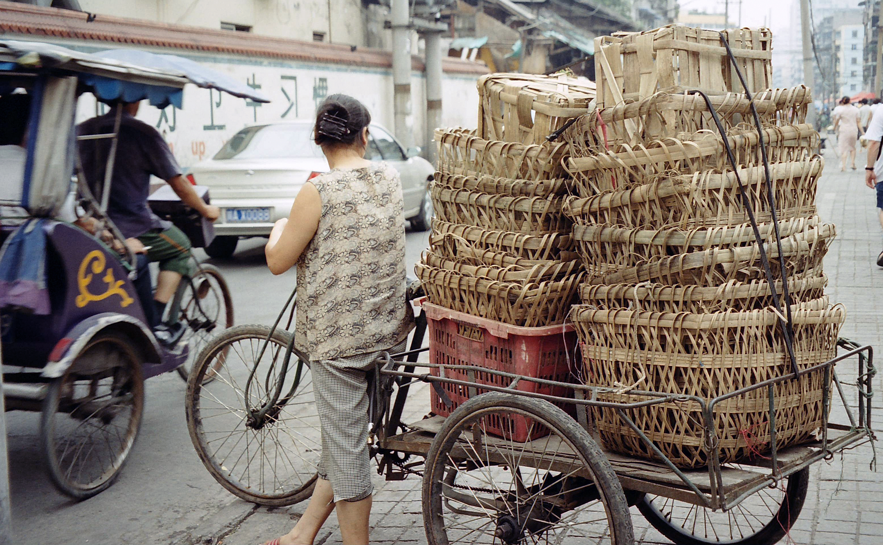 tricycle and baskets, Chengdu China.jpg