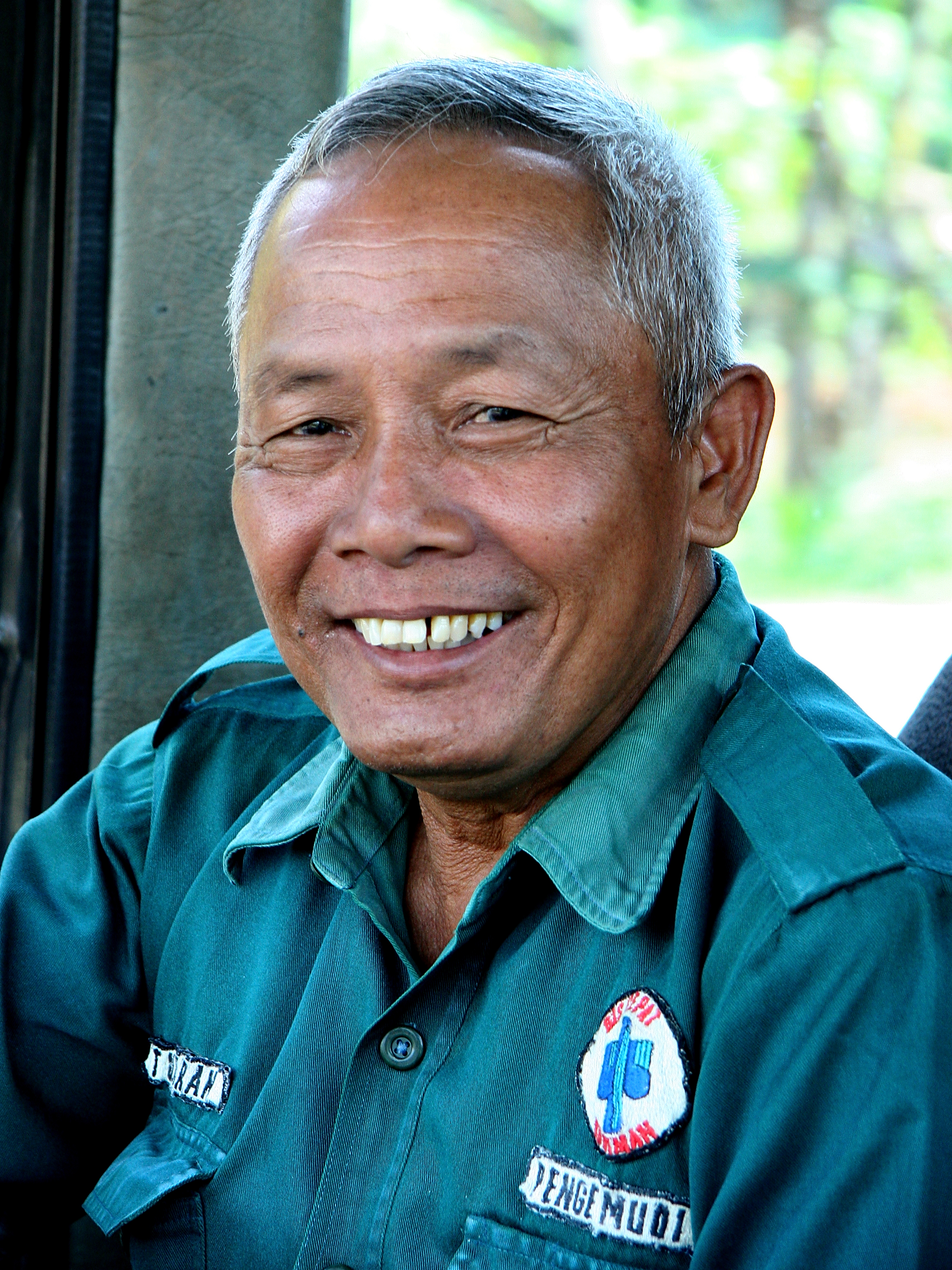 Bus driver, Java Indonesia.jpg - Indonesia Java. Bus driver