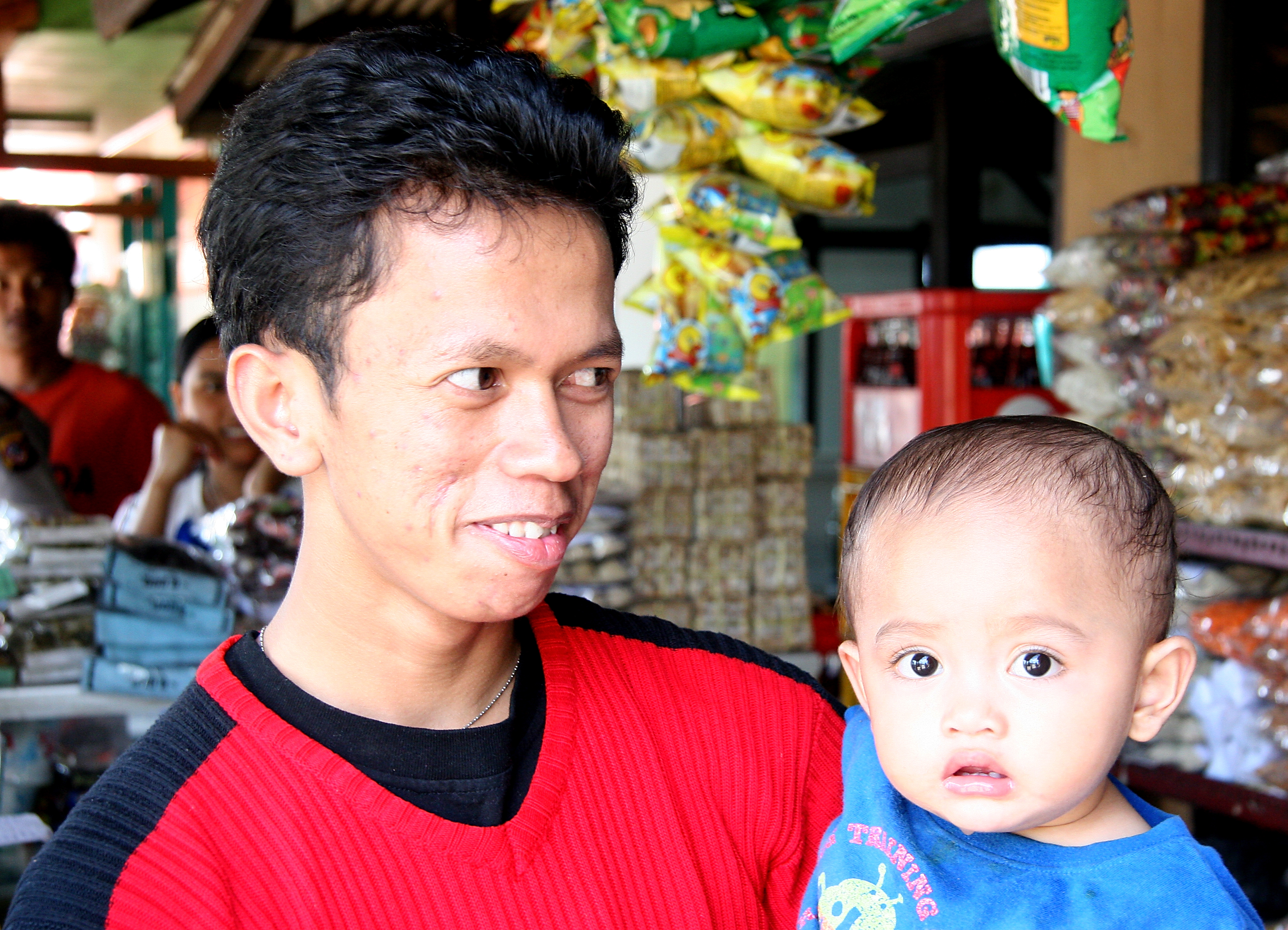 Father and boy, Java Indonesia.jpg