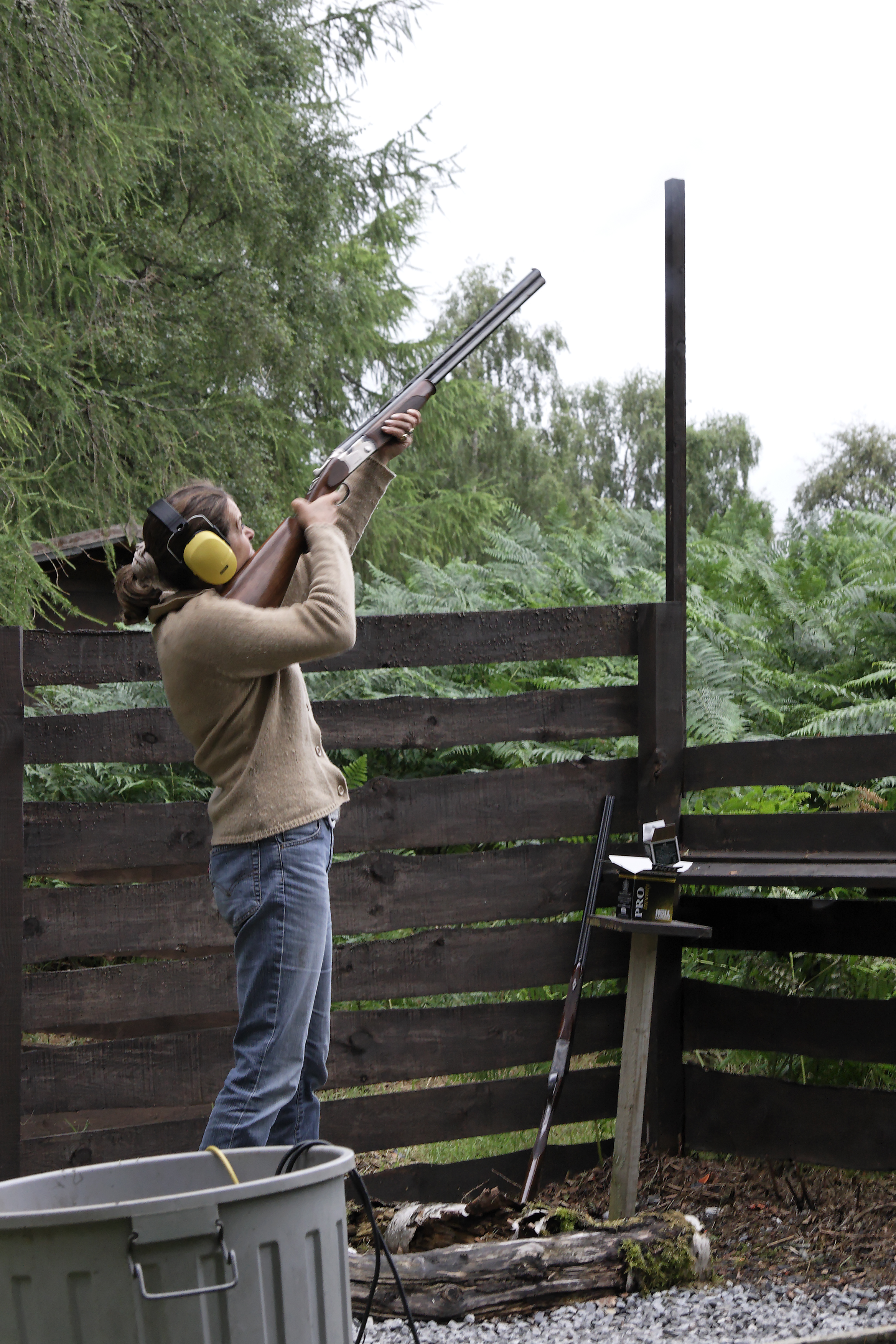 Clay pigeon shooting Scotland 1.jpg - Clay pigeon shooting